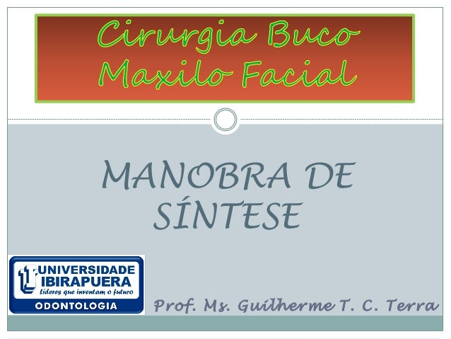 MANOBRA DE  SÍNTESE  Prof. Ms. Guilherme T. C. Terra