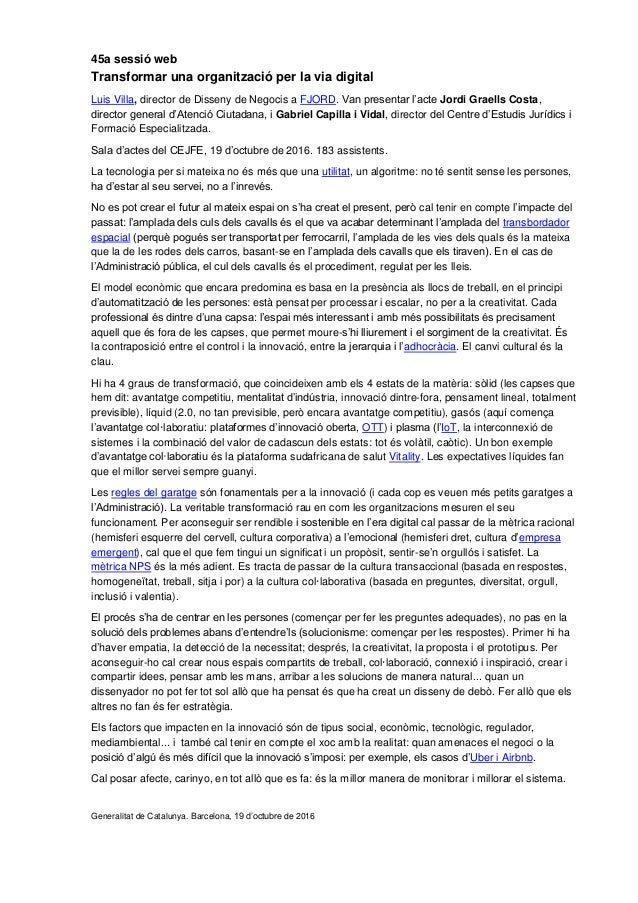 45a sessió web Transformar una organització per la via digital Luis Villa, director de Disseny de Negocis a FJORD. Van pre...