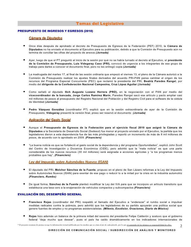 SíNtesis Informativa (27 11 2009) Slide 2