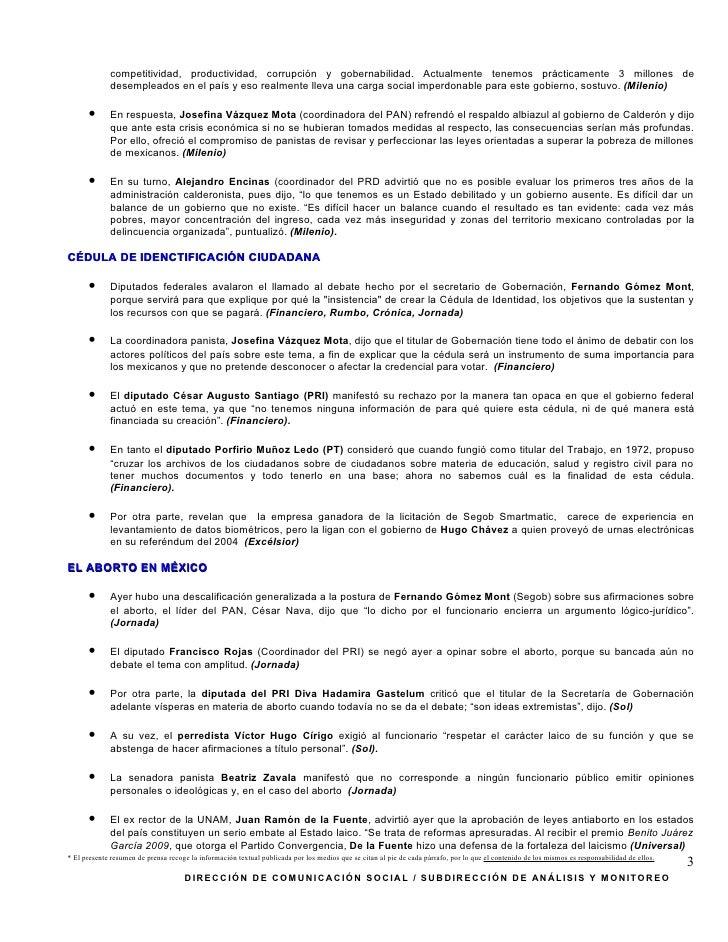 SíNtesis Informativa (27 11 2009) Slide 3