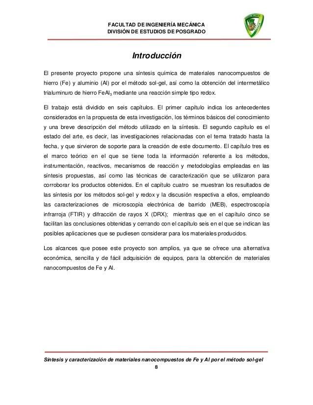 Síntesis y caracterización de materiales nanocompuestos de fe y al po…