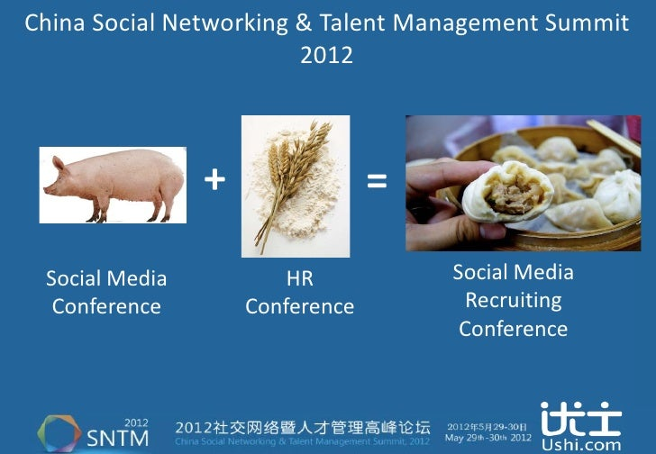 China Social Networking & Talent Management Summit                        2012                +                = Social Me...