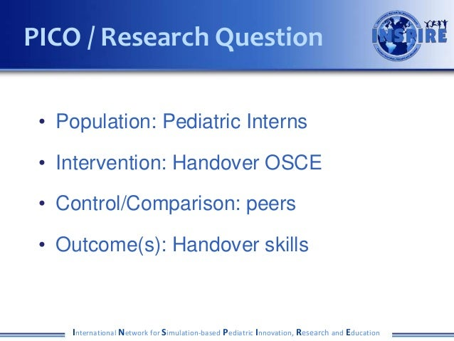 Alert 2017   lopreiato - a handover osce to measure skills in transitions of care updated Slide 3