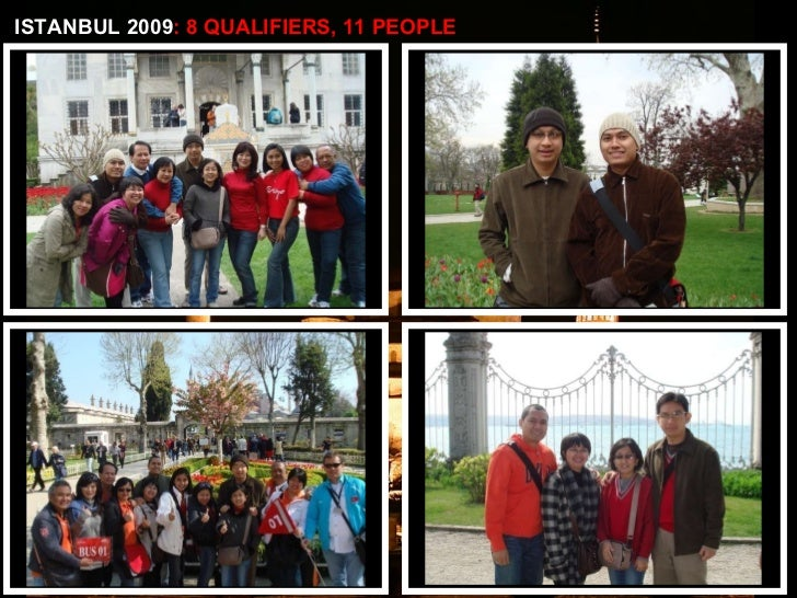 ISTANBUL 2009 : 8 QUALIFIERS, 11 PEOPLE