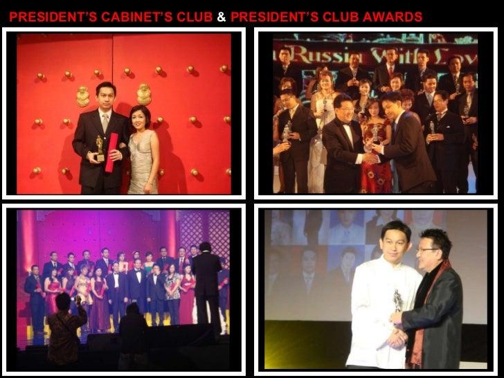 PRESIDENT'S CABINET'S CLUB  &  PRESIDENT'S CLUB AWARDS