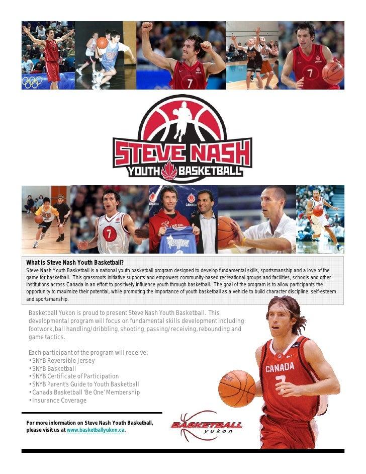 What is Steve Nash Youth Basketball? Steve Nash Youth Basketball is a national youth basketball program designed to develo...