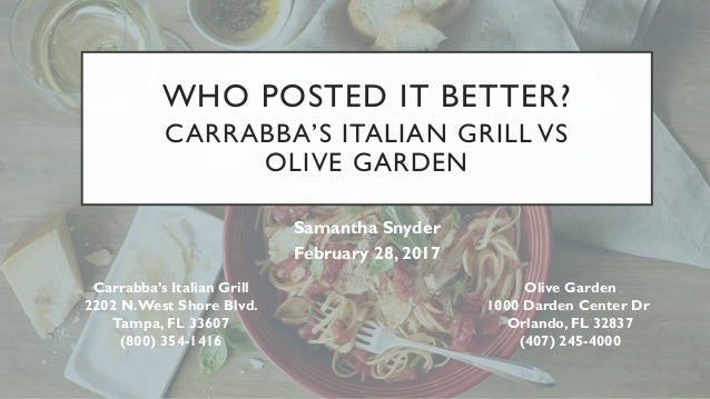 olive garden vs carrabba s italian grill America's best italian restaurant chains  and from corporate behemoths like olive garden to family-run chains like the old  carrabba's italian grill.