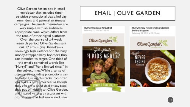 olive garden vs carrabba s italian grill Carrabba's's top competitors are macaroni grill, olive garden and johnny  carino's  macaroni grill has 111 more employees vs  press release:  carrabba's : carrabbas italian grill, inc : retailing - company information, swot  and.