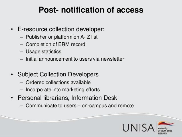 Snyman unisa battle to build an ebook collection