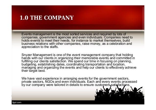 Snyzer Management Company Profile Event Management Company