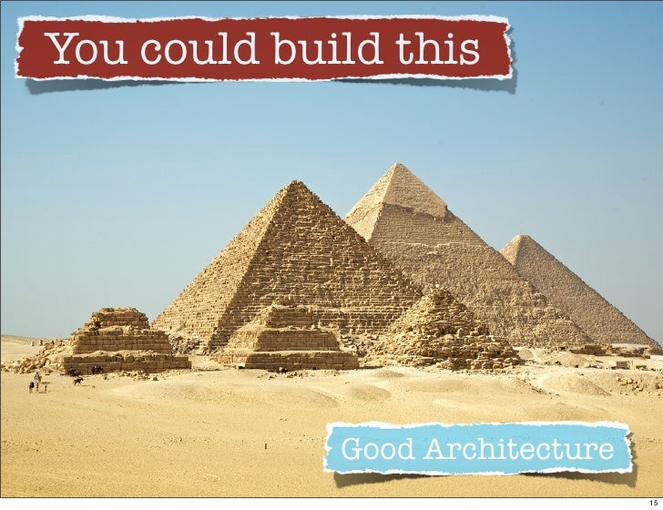You could build this                  Good Architecture                                  15