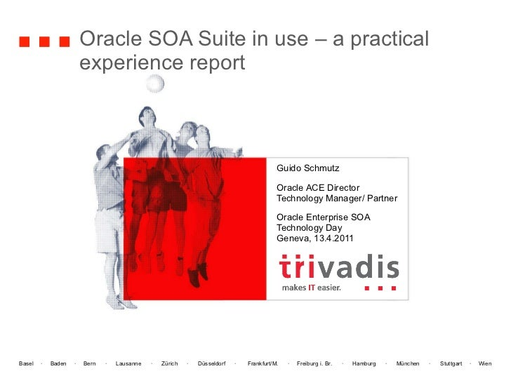 Oracle SOA Suite in use – a practical experience report Guido Schmutz Oracle ACE Director Technology Manager/ Partner Orac...
