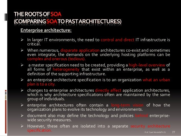 Service oriented architecture master thesis