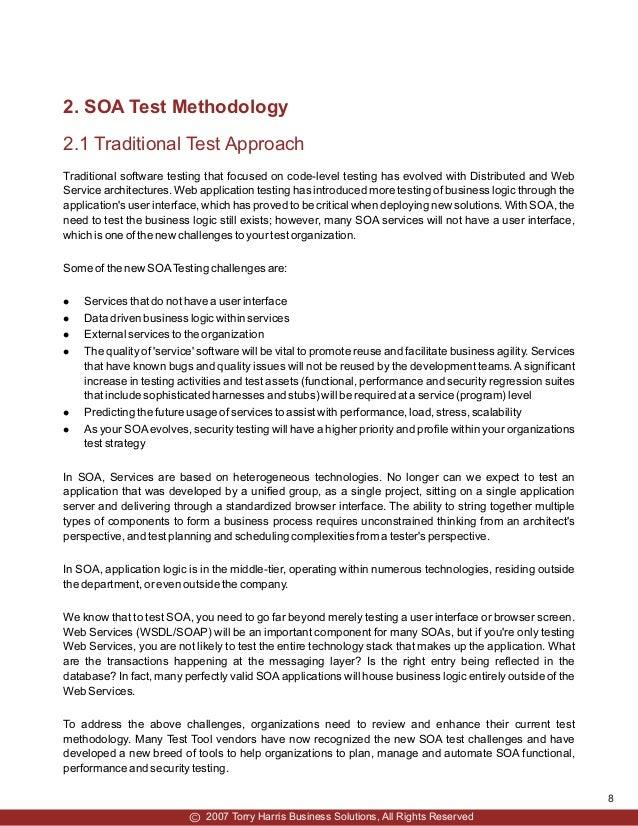 SOA Test Methodology   Torry Harris Whitepaper