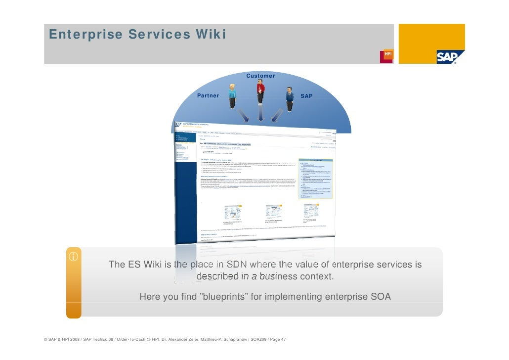 Consuming sap enterprise services for order to cash at the hasso pl enterprise services wiki customer partner sap malvernweather Gallery