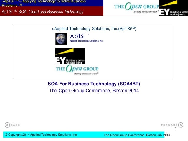 © Copyright 2014 Applied Technology Solutions, Inc. >ApTSi TM – Applying Technology to Solve Business Problems TM The Open...