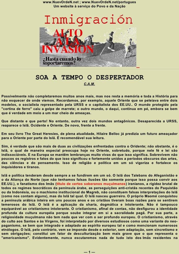 www.NuevOrdeN.net ; www.NuevOrdeN.net/portugues                             Um website à serviço do Povo e da Nação       ...