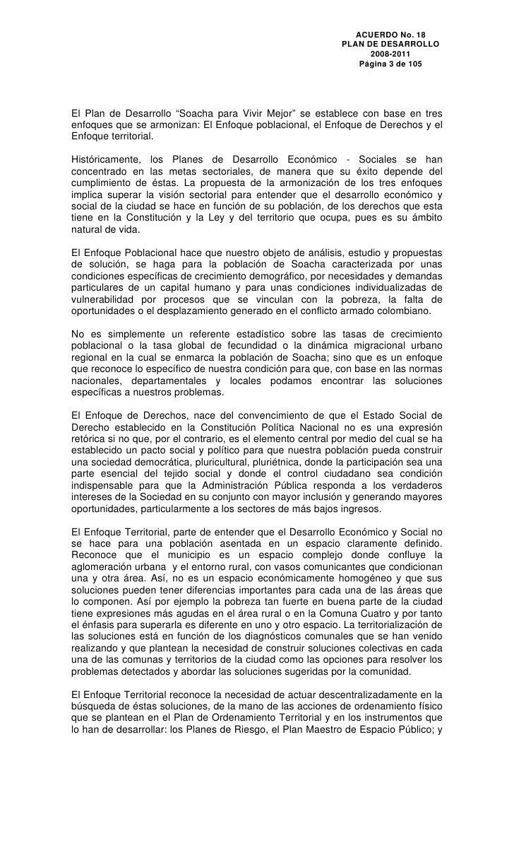 Plan De Desarrollo Municipal 2008 2011 Soacha Colombia