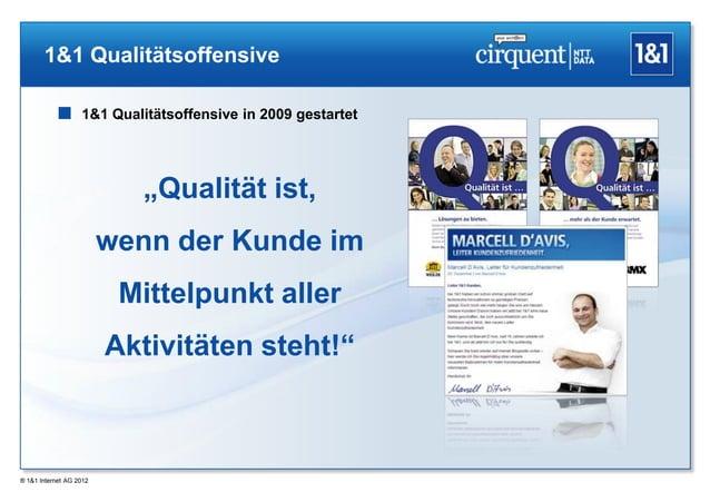 """1&1 Qualitätsoffensive            1&1 Qualitätsoffensive in 2009 gestartet                            """"Qualität ist,     ..."""