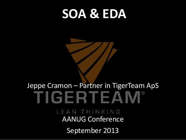 Jeppe Cramon – Partner in TigerTeam ApS AANUG Conference September 2013 SOA & EDA