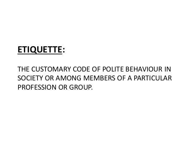 Soaial and multicultural etiquette Slide 3