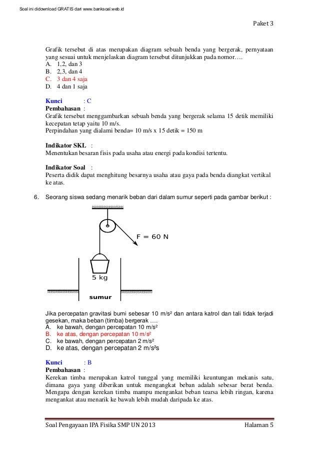 Contoh Soal Dan Pembahasan Fisika Hukum Newton 1 Contoh Soal2
