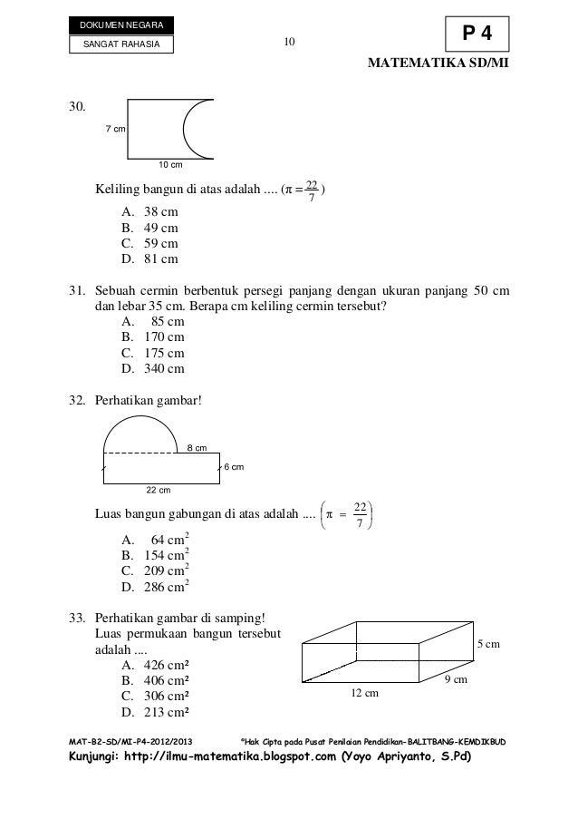 Jawaban Matematika Sd Pdgk 4406 Ut