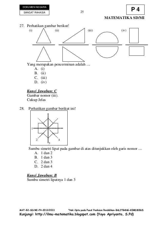 Soal un dan kunci jawaban matematika sd 2012 2013 dcukup jelasppppp 25 ccuart Images