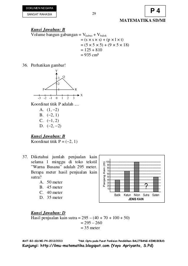 Soal Matematika Persiapan Ulangan Umum Semester Sd Kelas Download Lengkap