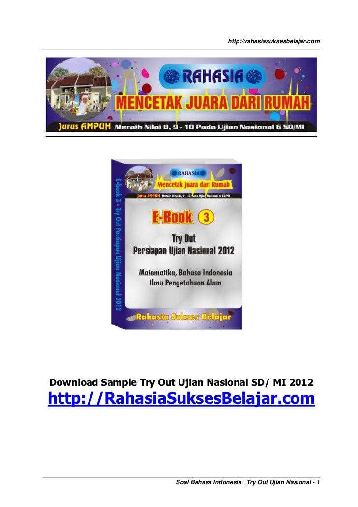 Soal Bahasa Indonesia Un Sd 2012