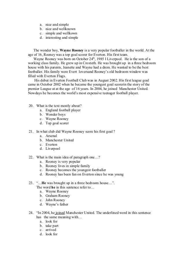 Contoh soal essay narrative text dan jawabannya