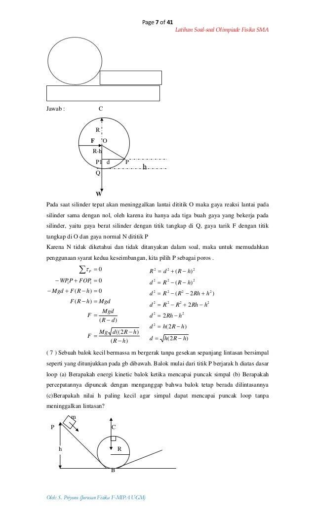 Ilmu Pengetahuan 2 Contoh Soal Fisika Osn