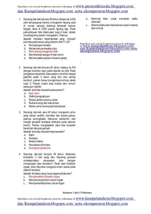 Soal Ukom Perawat Pdf 33 Rentprojparkfil S Ownd