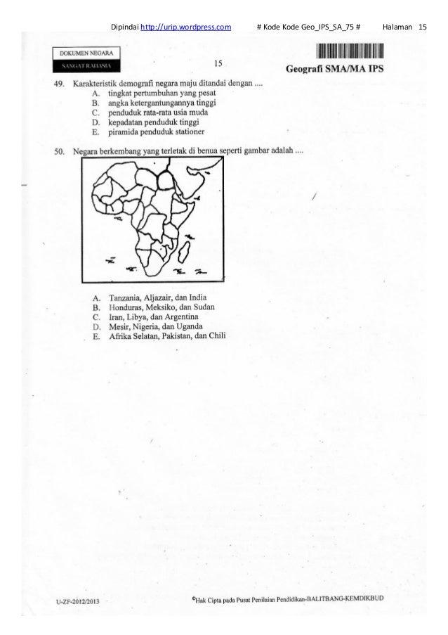 Soal Un Geografi Sma Ips 2013 Kode Geo Ips Sa 75
