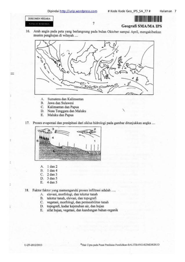 Soal Un Geografi Sma Ips 2013 Kode Geo Ips Sa 77