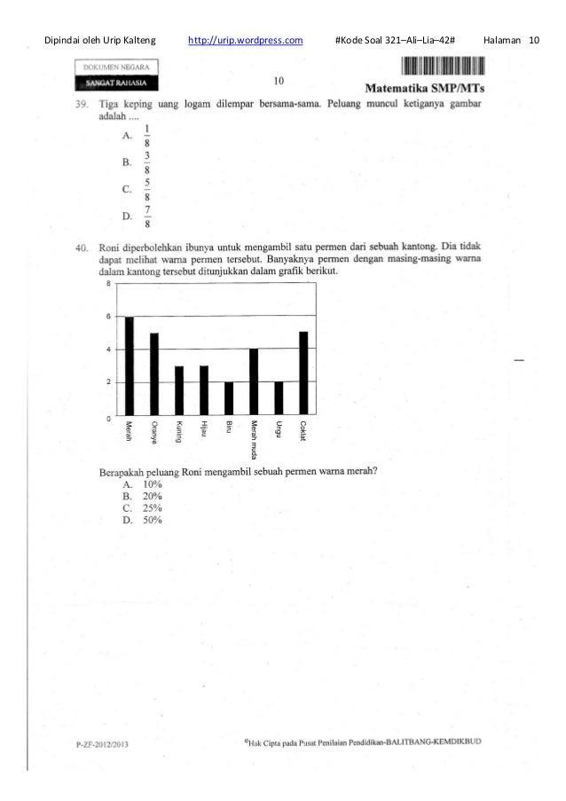 Soal Un Matematika Smp 21 214 Ali Lia 23
