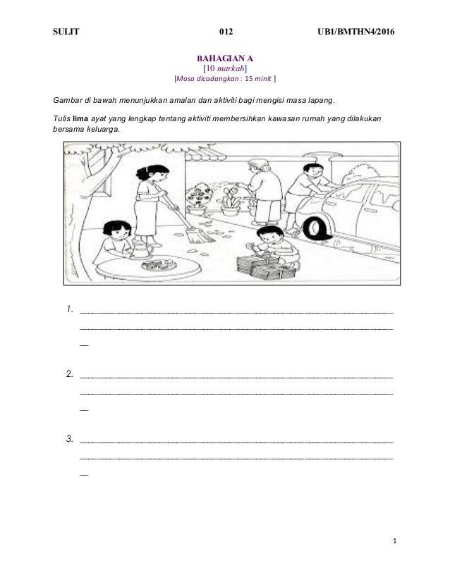 Soalan Bahasa Malaysia Tahun 4 Ujian Bulanan 1 Pengenalan Format Baha