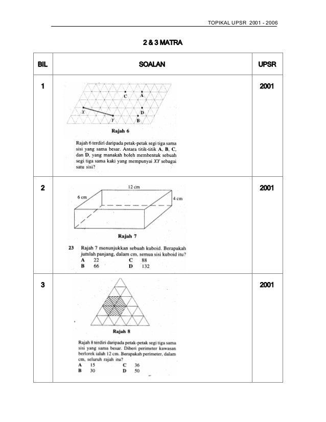 Soalan Matematik Tahun 5 Perimeter Jalan Kutai A