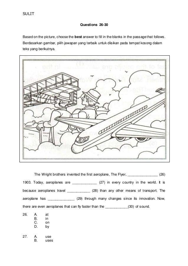 Soalan Bahasa Inggeris Tahun 5 Dan Jawapan 2019 Terengganu N