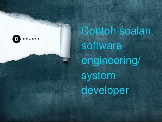 Contoh soalan software engineering/ system developer