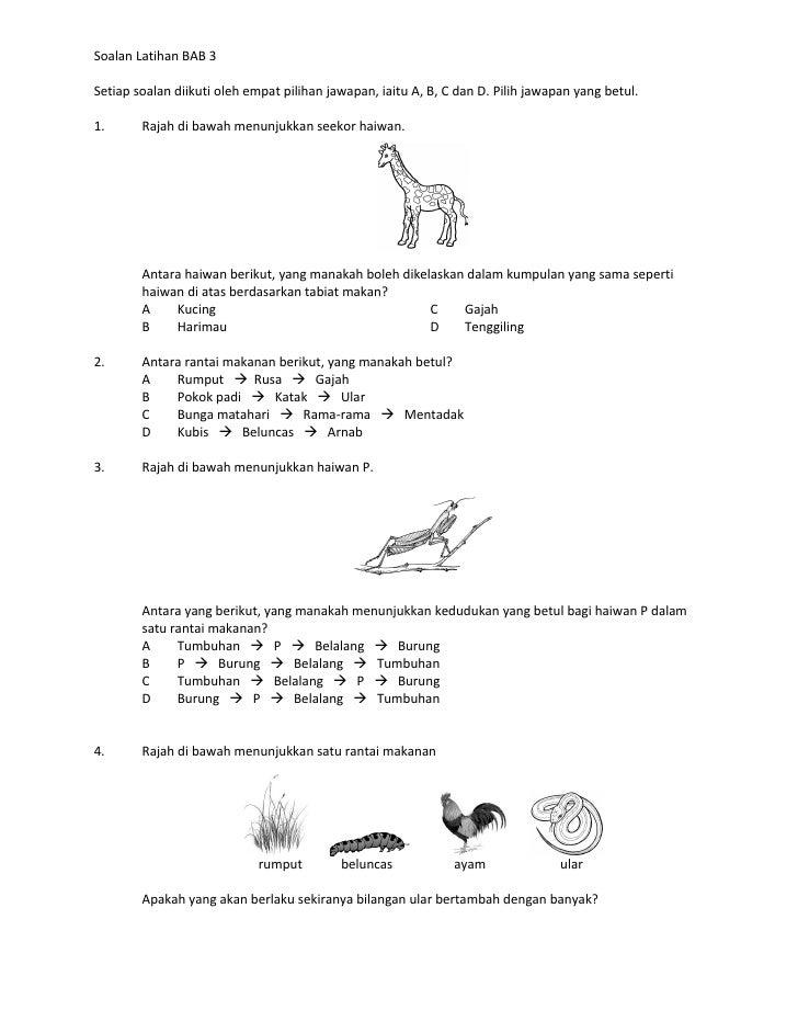 Soalan Latihan BAB 3Setiap soalan diikuti oleh empat pilihan jawapan, iaitu A, B, C dan D. Pilih jawapan yang betul.1.    ...