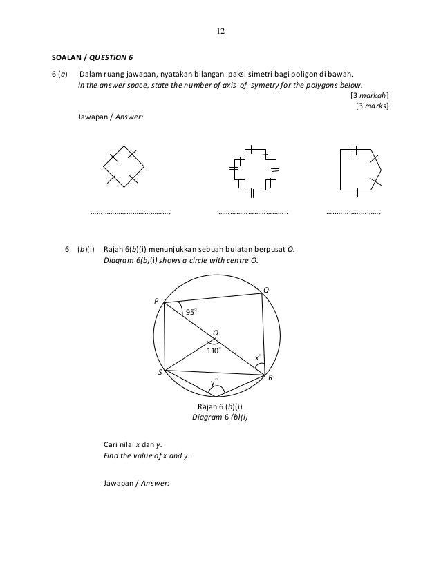 Contoh Soalan Matematik Tambahan Tingkatan 4 Kertas 2 Soalan Br