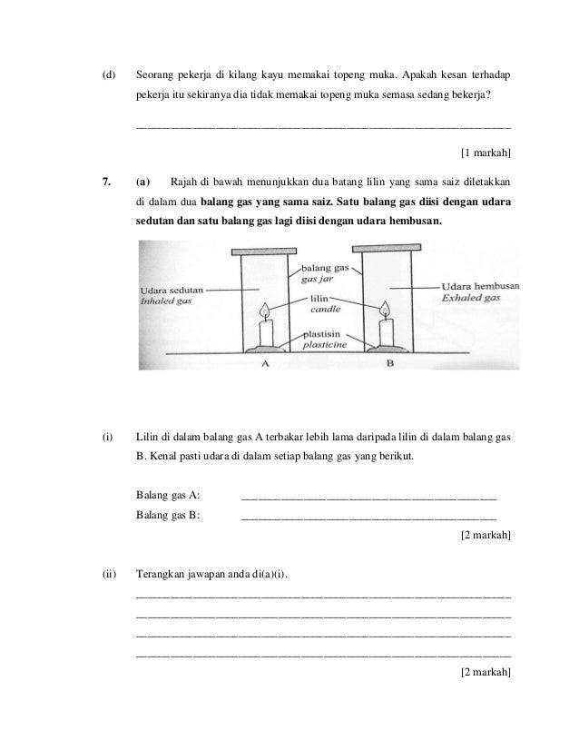Soalan Percubaan Sains Pt3 Kuala Penyu 2015