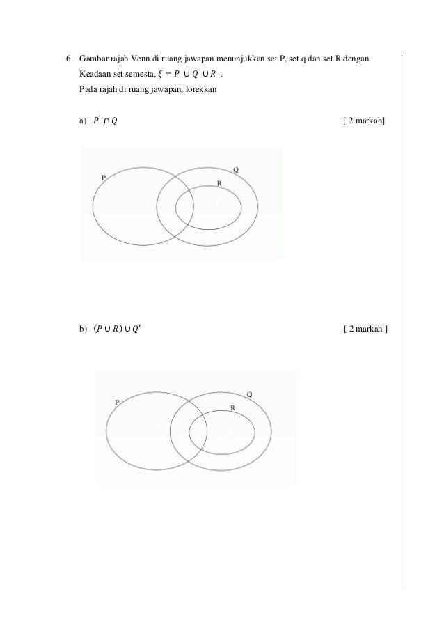 Soalan Pertengahan Tahun Matematik Tingkatan 4