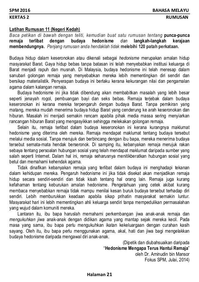 Soalan Rumusan Spm 2019 Selangor E