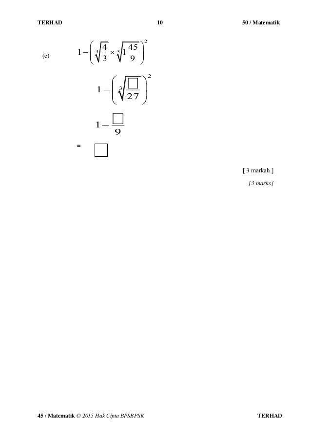 Malacca A Soalan Dan Jawapan Ungkapan Algebra
