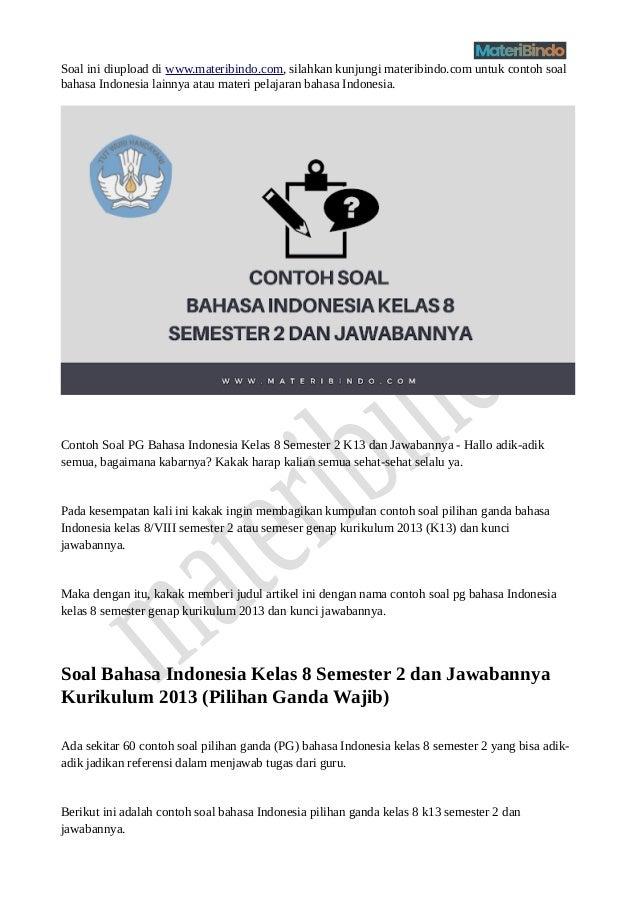 Soal bahasa indonesia kelas 8 semester 2