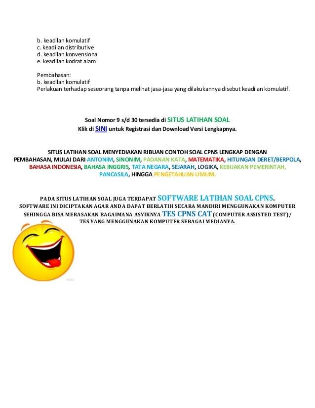 Soal cpns pancasila + pembahasan Slide 3