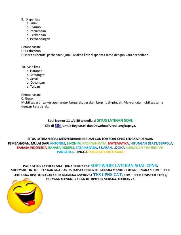 Download Soal Cpns Dan Pembahasan Soal Cpns Dan Tryout Cpns Tes Cpns Download Lengkap Soal Cpns