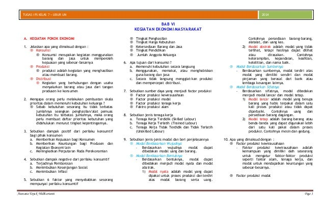 Contoh Soal Dan Jawaban Ekonomi Mikro Semester 1 Contoh Soal2